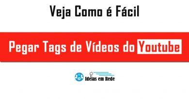 Como pegar tags de vídeos do youtube